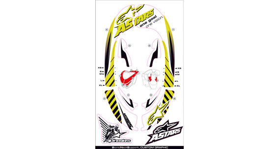 Alpinestars Bionic Neck Support SB Graphic Kit yellow fluo/white